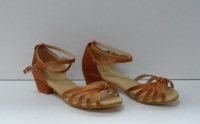 Туфли для бальных танцев, каблук 3 см (коричневый)