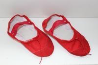 Балетки для танцев и гимнастики классические (красный)
