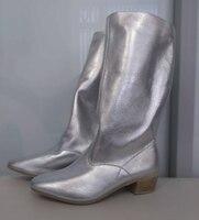 Сапоги для народных танцев женские (серебро)