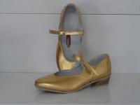 Туфли для народных танцев (золото)