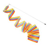 Лента с палочкой для художественной гимнастики (6м, радужная)